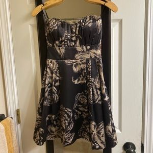 Strapless Floral Holiday Dress